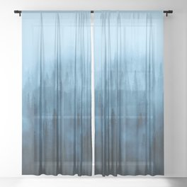 Pine Tree Fantasy Forest Landscape V.4 Sheer Curtain