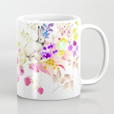 Soft Bunnies black Coffee Mug