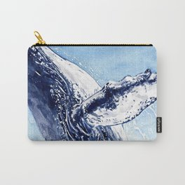 Breaking the Breach - Whale Watercolor Carry-All Pouch