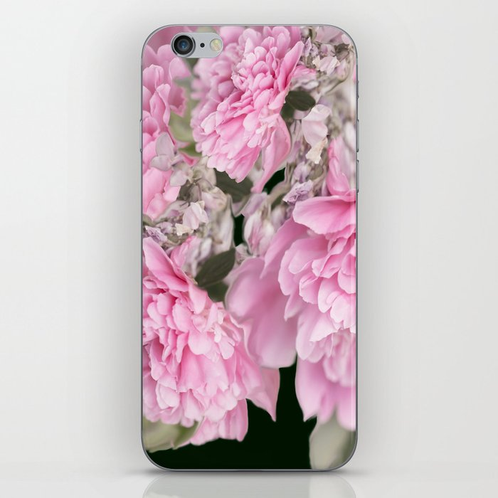 Pink Bouquet On A Black Background  #society6 #buyart iPhone Skin
