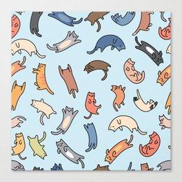 Cat Pattern, Illustration, Cat floor Pillow Canvas Print
