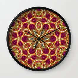 Frayed threads kaleidoscope Wall Clock