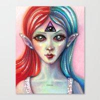 third eye Canvas Prints featuring Third Eye by Mary Nason (MiaSnow)