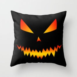 Cool scary Jack O'Lantern Halloween Throw Pillow