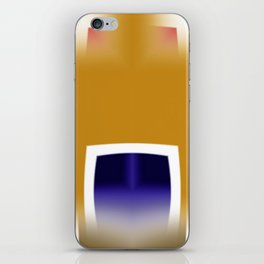 Yellow and Blue Abstract Art iPhone Skin