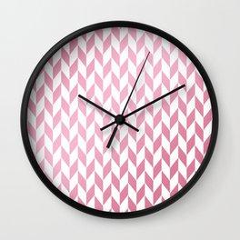 Elegant geometrical rose gold white pattern Wall Clock