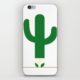 Cactus in underpants. iPhone Skin