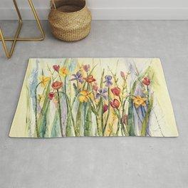 Spring Medley Flowers Rug