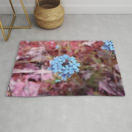 Blue Flowers, Red Thorns ~ Cedars of Lebanon, Tennessee Rug