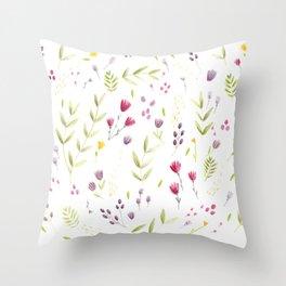 Berry Bouquet Throw Pillow