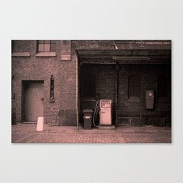 the old service station Canvas Print
