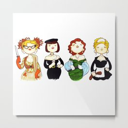 Ladies of Clue Metal Print