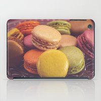 macaroons iPad Cases featuring French Macaroons by ELIZABETH THOMAS Photography of Cape Cod