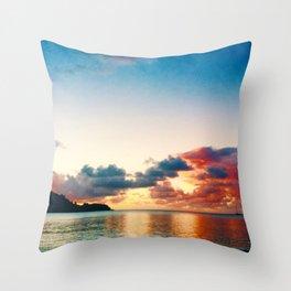 magic sky of kauai Throw Pillow