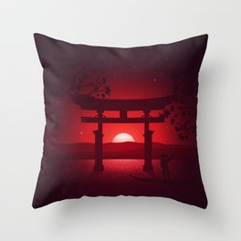 Itsukushima Shrine Throw Pillow