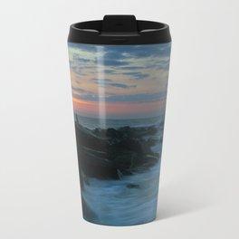 Beach Sunrise Metal Travel Mug