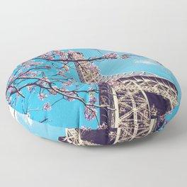 Springtime in Paris Floor Pillow