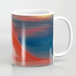 """""""The power of heart"""" Original oil finger painting by Monika Toth Coffee Mug"""