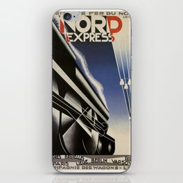 Vintage poster - Nord Express iPhone Skin