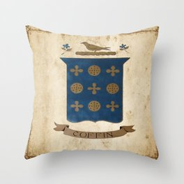 Coffin Crest Throw Pillow