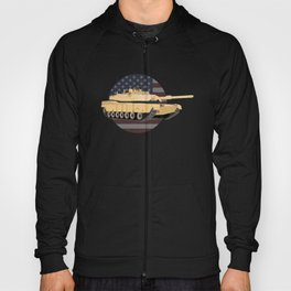 M1A1 Abrams Tank with American Flag Hoody