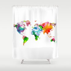 Worldmap Shower Curtains | Page 2 of 6 | Society6