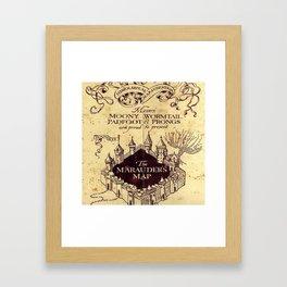 bown map Framed Art Print