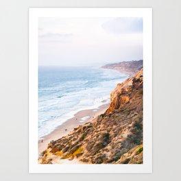 Rocky San Diego Coastline Fine Art Print Art Print