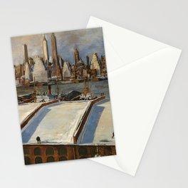 American Masterpiece 'Manhattan Skyline' by John Cunning Stationery Cards