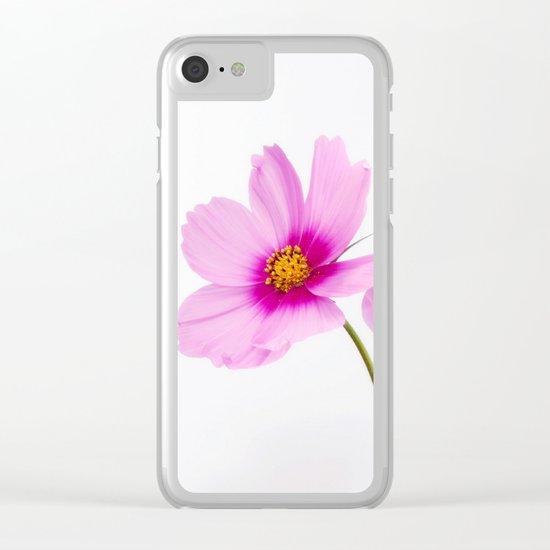 cosmea flowers Clear iPhone Case