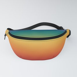 Colorful Gradient Pattern Abstract Rainbow Fanny Pack