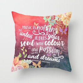 A Thousand Perfect Notes quote 2 Throw Pillow