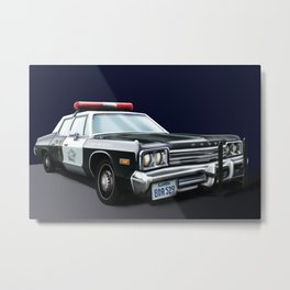The Blues Brothers - Bluesmobile Metal Print