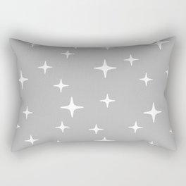 Mid Century Modern Star Pattern 443 Gray Rectangular Pillow