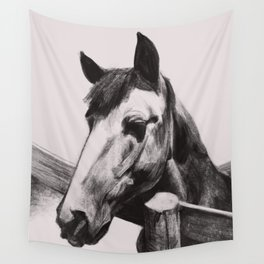 Horse Greeting A Stranger Wall Tapestry