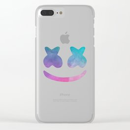 Marshmello Face Clear iPhone Case