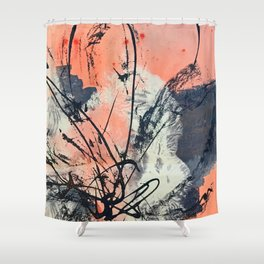 Perennial: abstract floral painting by Alyssa Hamilton Art Shower Curtain