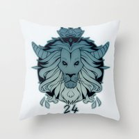 leo Throw Pillows featuring leo by andrahilde