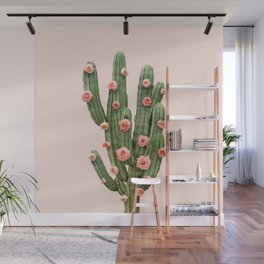 CACTUS AND ROSES Wall Mural