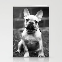 french bulldog Stationery Cards featuring French Bulldog by Kathleen Follert