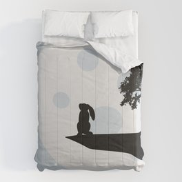 Bunny and Moon Silhouette Comforters