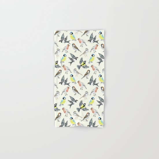 Illustrated Birds Hand & Bath Towel