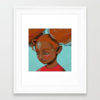 child Framed Art Prints featuring child by keiadnae