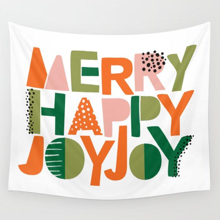 Merry Happy Joy Joy Wall Tapestry