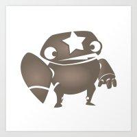 minima - slowbot 004 Art Print