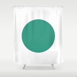 Go   Green Circle Shower Curtain