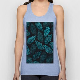 Green Leaves Unisex Tank Top