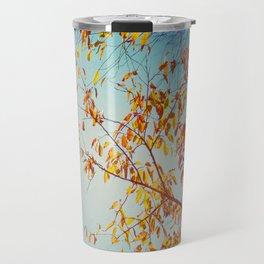 textured leaves. Travel Mug