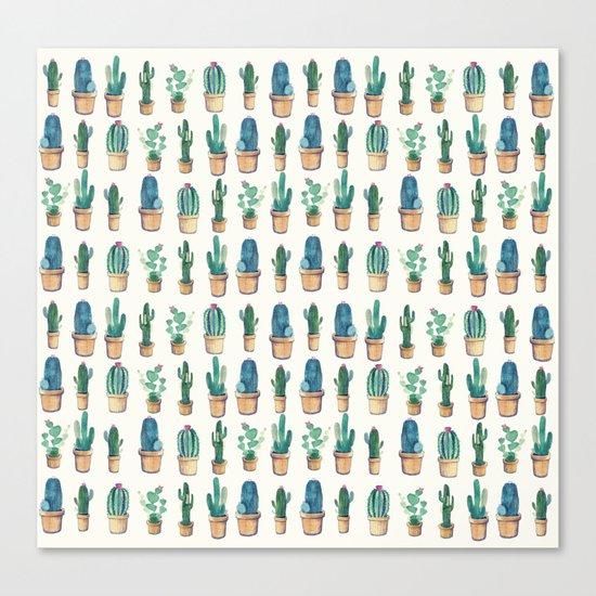 cactus water color !! Canvas Print