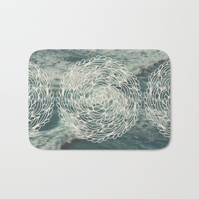 Mandala Ocean Waves Bath Mat